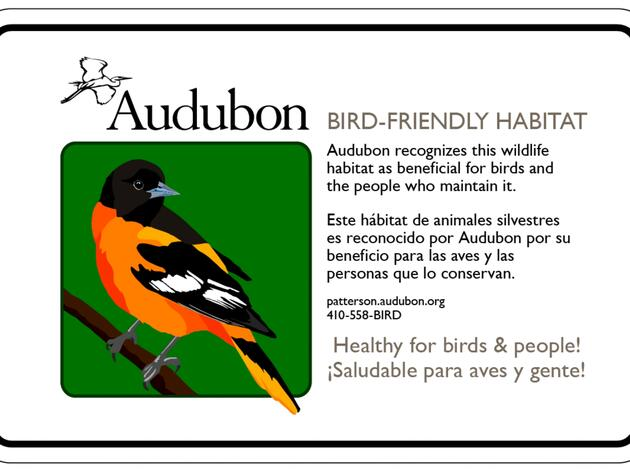 Maryland-DC Bird Friendly Habitat Signs